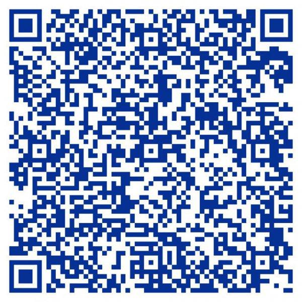 Codigo QR con tarjeta de visita del Centro de Psicología AARON BECK