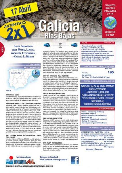 OFERTA DOS X UNO GALICIA