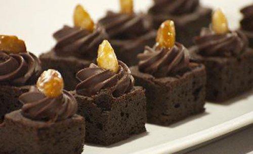Daditos de brownie