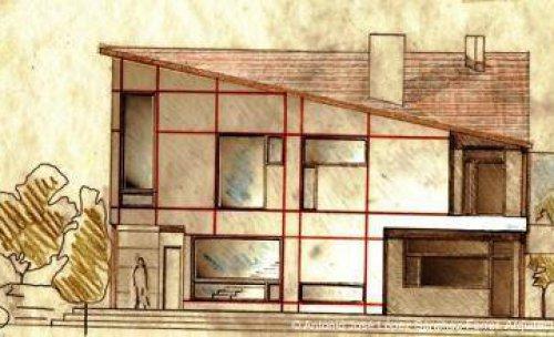 Boceto de vivienda unifamiliar