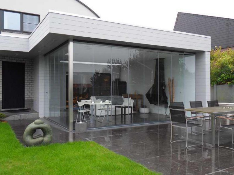 Cortina en plata para jardín