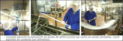 limpieza y desinfeccion de una fabrica de alimentos