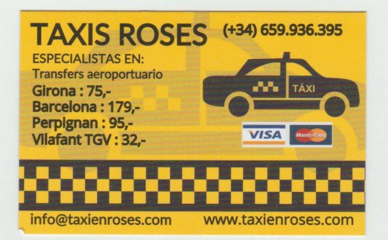 Taxis en Roses