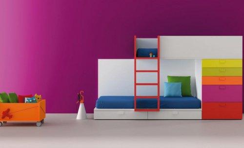 habitaciones infantiles, tren litera, litera, camas niños, camas infantiles