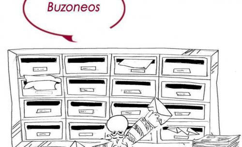 Buzoneo de folletos, revistas...