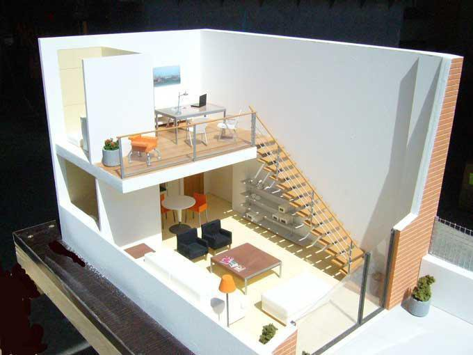 Maqueta interior loft