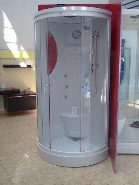 Cabina de hidromasaje Esposende 90Y, radio, 6 jets de hidromasaje, luz interior, ventilador (90x90x220 cm) €360