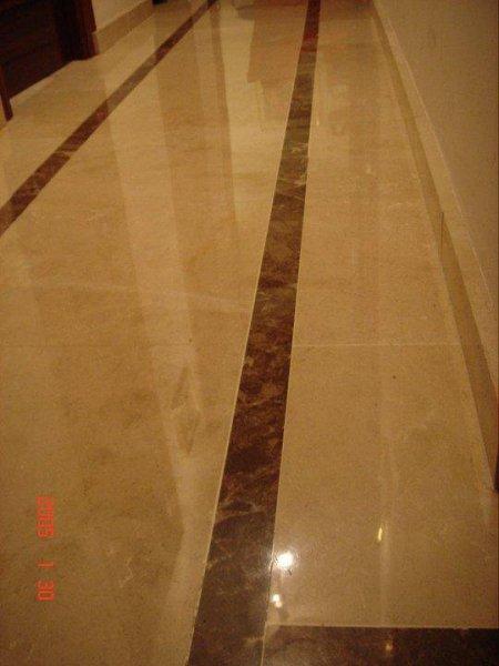 Cristalizado de suelo mármol crema marfil