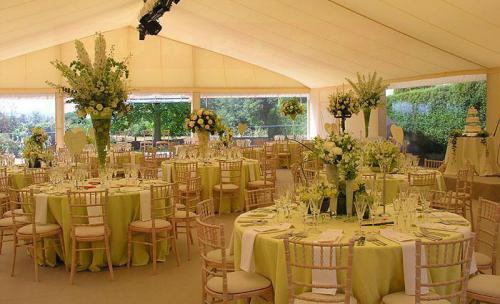 Carpa boda, doble techo y paredes transparentes