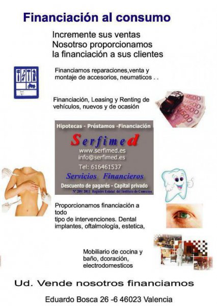 Serfimed financiación al consumo