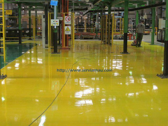pavimento continuo de resina epoxi