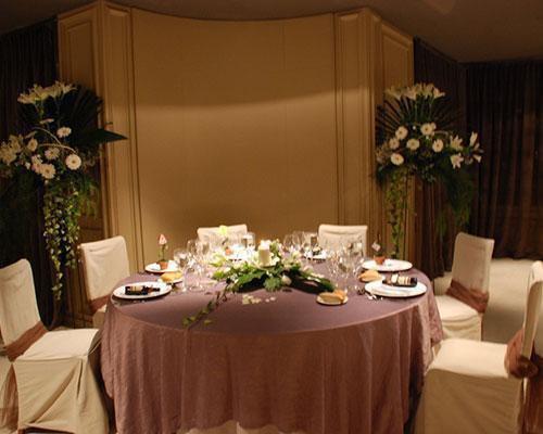 Detalle de una de las mesas