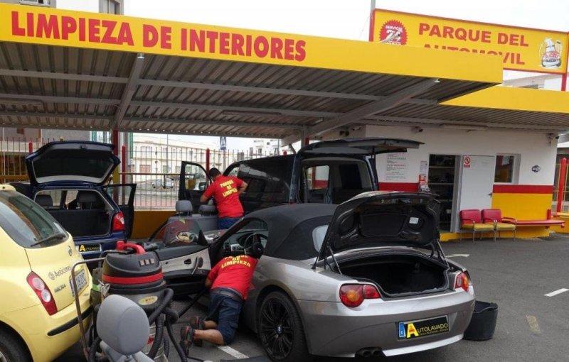 Zona donde se realiza la limpieza de los vehiculos