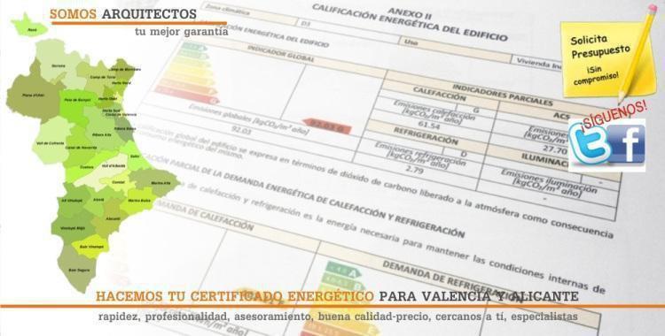Hago tu Certificado Energético para Valencia y Alicante