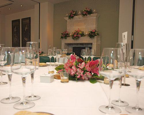 Detalle mesa invitados