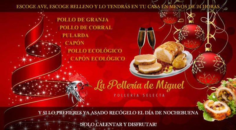 ¡Encarga un delicioso Pollo Relleno Asado para Navidad y olvídate de cocinar!
