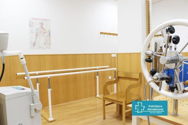 Sala de rehabilitación y fisioterapia en Policlínica Navalmoral