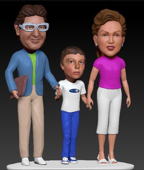 Figuras personalizadas de una familia