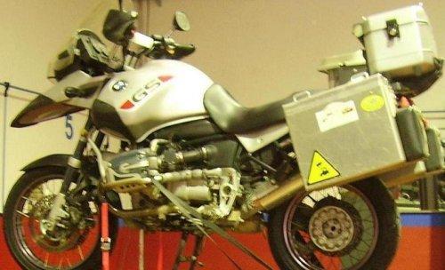 Preparando la moto