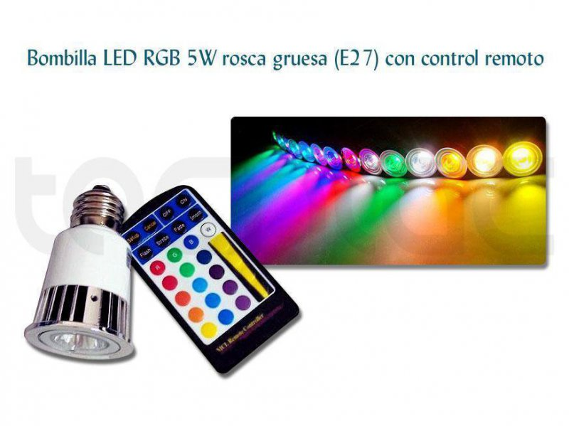 http://www.tecniac.com/Bombilla-LED-RGB-5W-E27-control-remoto