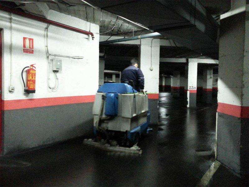 Limpieza de garaje en Móstoles