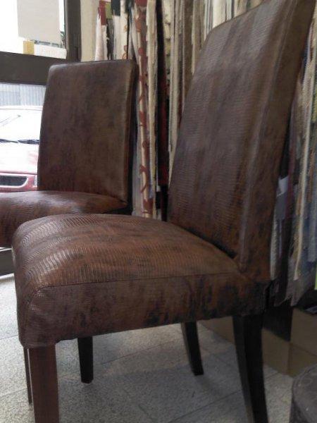 sillas tapizadas en polipiel