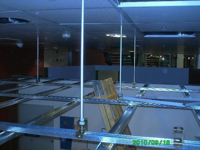 Instalación de pladur en interiores