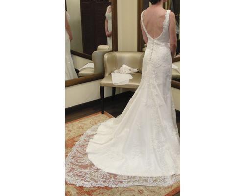 Detalle de la cola de la novia