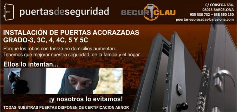 SegurClau Instalación de puertas acorazadas en Barcelona