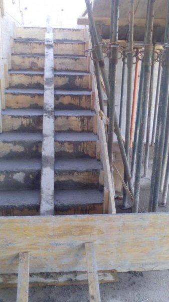Rampla de escaleras de hormigon