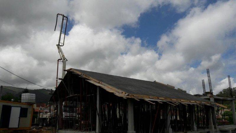 Hormigonando placa de tejado