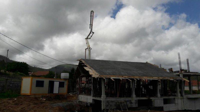 Hormigonando tejado