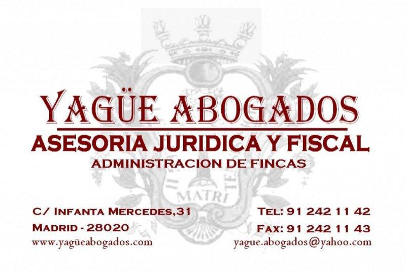 YAGÜE ABOGADOS ASESORIA JURIDICA Y FISCAL - ADMINISTRACION DE FINCAS