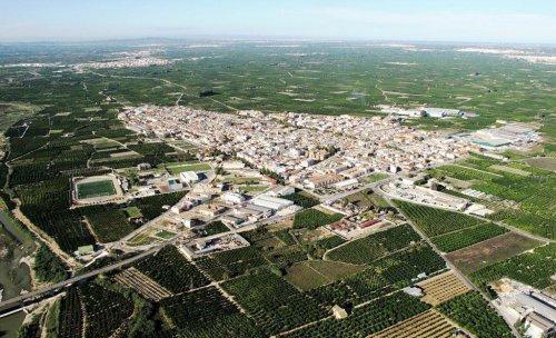Villanueva de Castellón desde el cielo