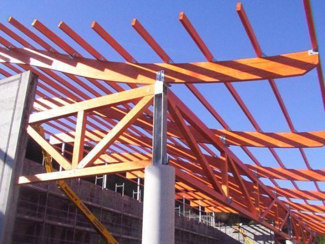 Fronton C.P: Elejabarri para el Ayto de Bilbao. Fase estructura cubierta