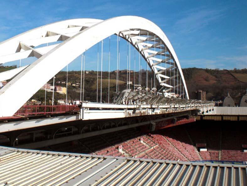 Estadio de San Mamés (Athletic club) - Bilbao - Rehabilitación e impermeabilización de cubierta.
