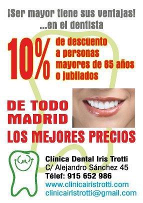 Descuento a jubilados en Clinica Dental en Madrid