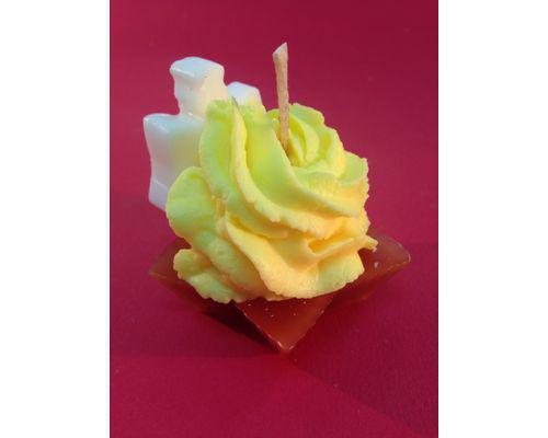 Cupcake / vela vainilla/chocoalte