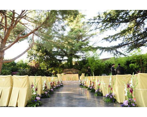 Ceremonia en jardin de la cabaña