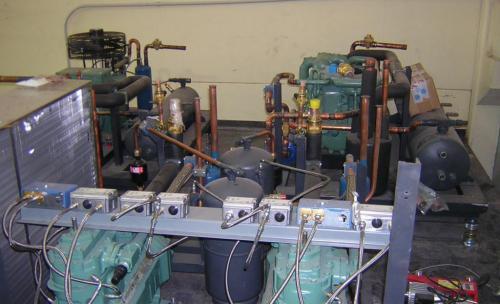montaje de sala de máquinas industrias carnicas ramajo