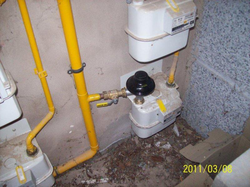 Reparación de fugas de gas en Regulador.
