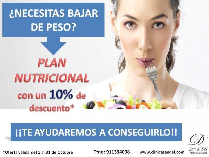 Plan nutricional personalizado para bajar de peso