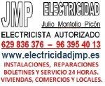 Electricista Autorizado en Valencia 629836376 Boletines electricidad