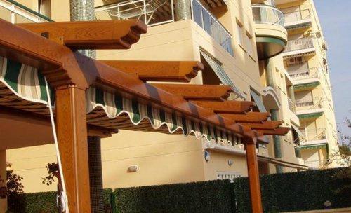 Proteccion Solar Exterior.Pergolas de Aluminio con Toldos plegables.