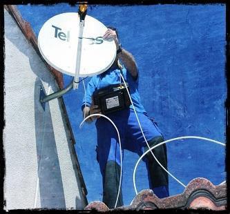 Instalando parabolica