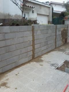 muros de bloques de hormigon