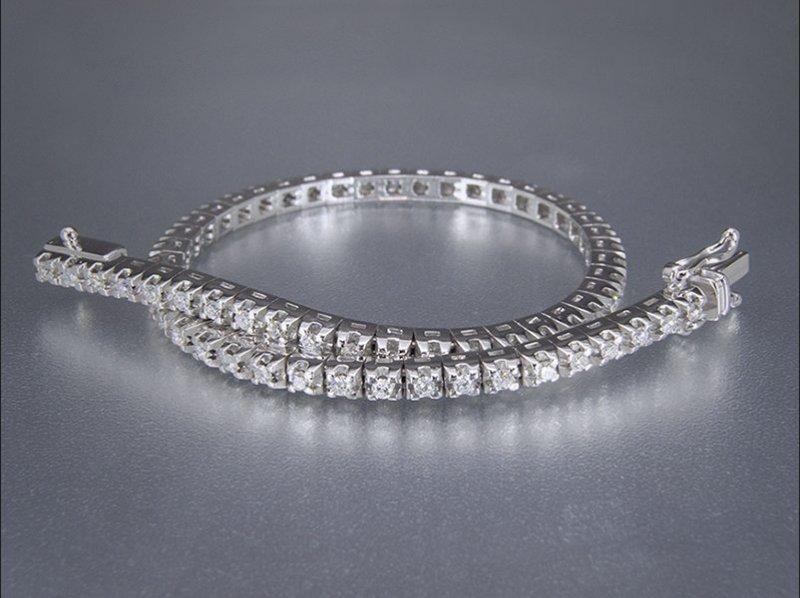 Pulsera de oro blanco y diamantes