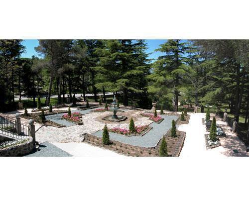 Panorámica del jardin romántico