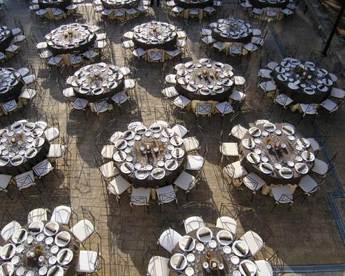 Montaje de boda en exterior