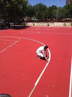 Replanteo y pintura de instalaciones deportivas